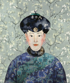 Khrôma Kimono DGKIM102 Miwa Mist behangposter 127cm breed x 150cm hoog