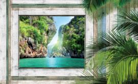 Fotobehang Uitzicht op Tropisch Meer