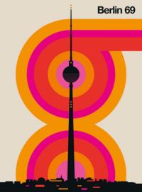 Fotowand Berlin 69 by Bo Lundberg afm. 200cm x 270cm hoog