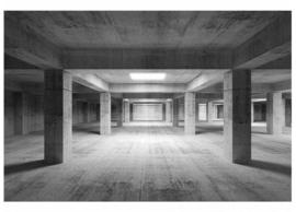 Fotobehang Betonkelder