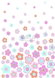 Esta photowall XL2 for kids 158709 Retro flowers