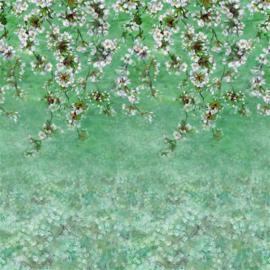 Designers Guild PDG1133/03 Assam Blossom Emerald 140cm x 300cm hoog