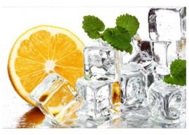 Fotobehang Citroen en ijsklontjes