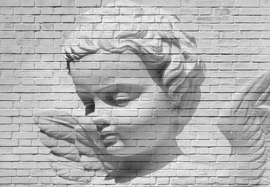 Fotobehang Idealdecor 00160 Angel Brick Wall