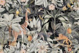 Fotowand Nostalgic animals by Andrea Haase afm. 400cm x 270cm hoog