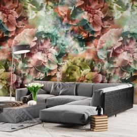 Colorful Florals&Retro fotobehang designed by INGK7293