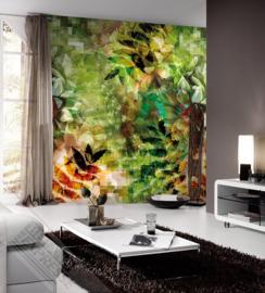 Colorful Florals&Retro fotobehang designed by INGK7311