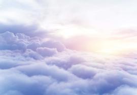 Fotobehang Paarse wolken