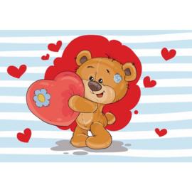 Fotobehang The Big Heart Bears: Bradley
