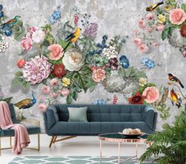Floral Utopia INK7578 fotobehang afm. 400cm breed x 280cm hoog