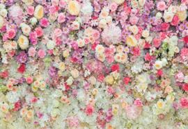 Fotobehang Pastel bloemen