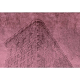 Fotobehang New York City Roze