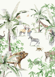 Creative Lab Amsterdam Just Another Day In The Jungle 200cm x 280cm hoog