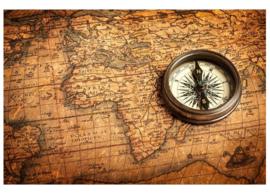 Fotobehang Kompas