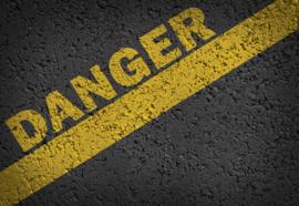 Fotobehang Road Markings Grunge Danger