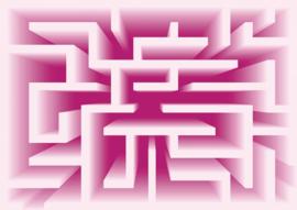 Fotobehang Doolhof Pink