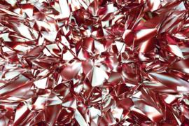 Fotobehang Rode cristallen