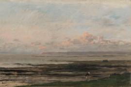 Fotobehang Strand bij eb - Charles-François Daubigny