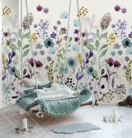 Colorful Florals&Retro fotobehang designed by INGK7281