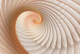 Fotobehang Abstract art swirl