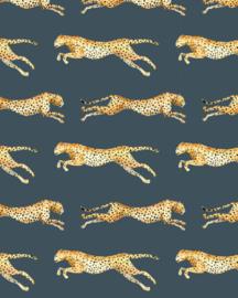 Creative Lab Wallpaper on roll Leopard Grey Blue