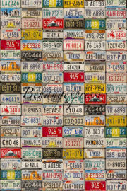 Fotobehang ColorChoc INK 6086 Numberplate