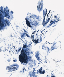 Kek Royal Blue Flowers WP-208 afmeting 194.8x280