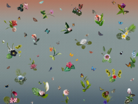 BN Dimensions by Edward van Vliet 200288DX Ikebana Mural