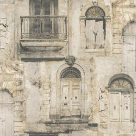 Galerie Global Fusion G56438 muurgevel met frans balkon