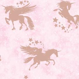 Over the Rainbow 90951 Iridescent Unicorns Pink Rosegold