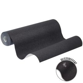Behang met glitters 6314-15 zwart