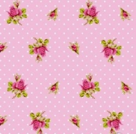Eijffinger Pip Studio behang  386022 Roses and Dots Roze