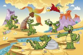 Fotobehang Krokodillen