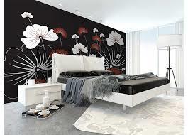 Fotobehang Bloemen op zwart
