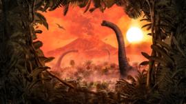Komar Into Adventure IAX10-0021 Brachiosaurus Panorama 500cm x 280cm hoog