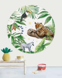 Creative Label behangcirkel Tiger Jungle 145cm