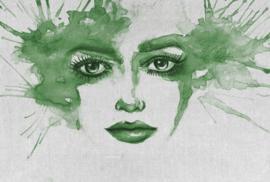 Fotowand Watercolour face 2 by Atelier 47 afm. 400cm x 270cm hoog