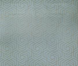 Osborn & Little Metropolis Vinyls  W7352-06 Hexagon Trellis