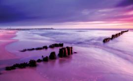 Fotobehang Strand bij Laagwater