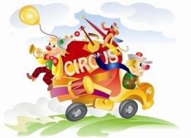 Little Ones fotobehang 418020 Circus Truck