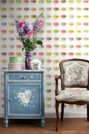 Wallpaper XXL Esta Home Pretty Nostalgic 158103 macarons