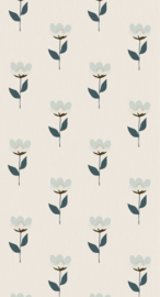 Bibelotte behang Retro bloem 28402
