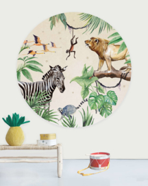 Creative Label behangcirkel King Of The Jungle 145cm