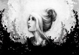 Fotobehang Vrouw Zwart Wit