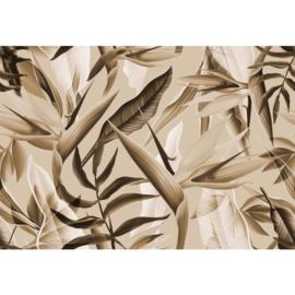 Fotobehang Tropicalia Sepia