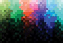 Fotobehang Pixel Pattern