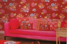 Eijffinger Pip Studio behang  386122 Bunch of Flowers Rood
