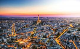 Fotobehang Parijs Eijffeltoren bij zonsondergang