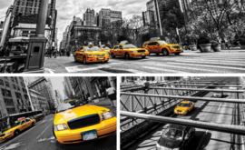 Fotobehang New York Yellow Cab