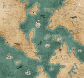 Komar Into Adventure IAX6-0029 Old Travel Map 300cm x 280cm hoog